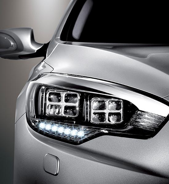 LED headlamp / side mirror / fog lamps / rear lamp